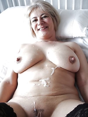 Cum on MILF Tits Porn Pictures
